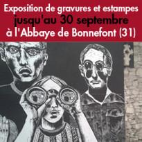 Exposition de<br>gravures<br>et estampes<br>Abbaye de Bonnefont (31)