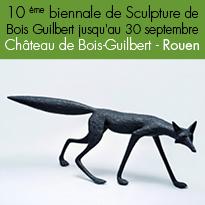 10 ème biennale<br>de Sculpture<br>de Bois Guilbert (76)