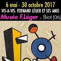 6 mai au 30 octobre 2017<br>VIS-A-VIS.<br>FERNAND LÉGER<br>ET SES AMIS