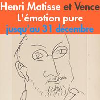 Henri Matisse<br>Au musée de Vence (06)<br>jusqu'au 31 décembre