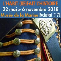 Rochefort (17)<br>Exposition<br>« L'habit (re)fait l'histoire »<br>jusqu'au 6 novembre 2018