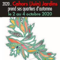 la 15e édition de Cahors Juin Jardins aura lieu du 2 au 4 octobre 2020