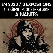 Trois nouvelles<br>expositions<br>en 2020<br>à Nantes