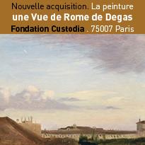 Nouvelle acquisition. La peinture une Vue de Rome de Degas