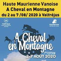1re édition de l'événement A Cheval en Montagne du 2 au 7 août 2020 à Valfréjus
