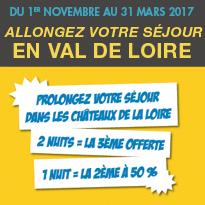 Bon plan<br>Châteaux de la Loire<br>Opération<br>«2 x plus de couette»: