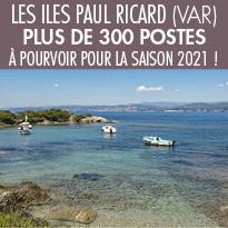 Les îles Paul Ricard recherchent des saisonniers