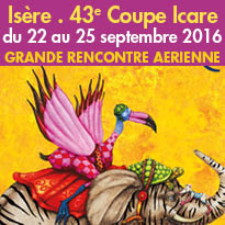 ISERE<br>43e Coupe Icare<br>du 22 au 25 septembre 2016