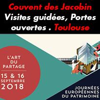 Portes ouvertes<br>visites guidées<br>au couvent<br>des Jacobin