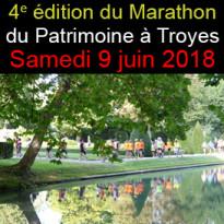 4e édition<br>du Marathon<br>du Patrimoine à Troyes<br>Samedi 9 juin 2018