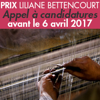 Appel à candidatures<br>du Prix Liliane Bettencourt<br>pour l'intelligence<br>de la main 2017