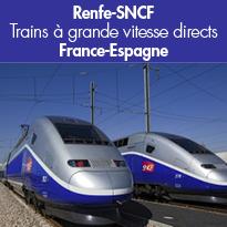 Nouveau<br>Trains à grande vitesse<br>directs France-Espagne