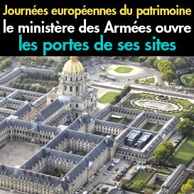 Le ministère des Armées<br>ouvre les portes<br>pour les Journées européennes<br>du patrimoine