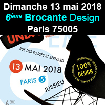Paris<br>6ème<br>Brocante Design<br>le 13 mai 2018