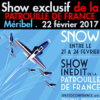 Le 22 février<br>La Patrouille de France<br>fait son show<br>à Méribel !