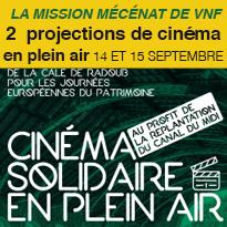 Deux projections<br>de cinéma<br>en plein air<br>Toulouse
