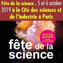 Fête<br>de la science<br>Les 5 et 6 octobre