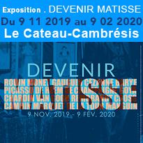«Devenir Matisse»<br>l'exposition<br>événement<br>au Cateau-Cambrésis