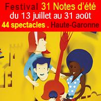Festival<br>31 Notes d'été