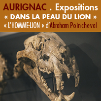 Expositions<br>du lion<br>des cavernes<br>de Montmaurin
