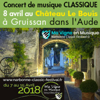 Musique classique<br>8 avril<br>au Château<br>Le Bouïs<br>Gruissan