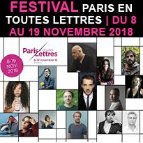 Le festival<br>Paris<br>en toutes<br>Lettres<br>du 8 au 19 novembre