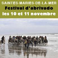 Festival<br>d'abrivado<br>les 10 et 11 novembre