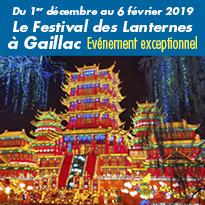 2ème édition<br>à Gaillac<br>du Festival<br>des Lanternes