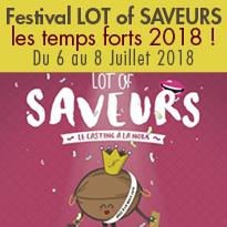 Lot Of Saveurs<br>Du 6 au 8 juillet<br>à Cahors