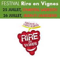 Festival Rire<br>en Vignes<br>au Château<br>de St Martin