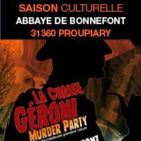 Saison<br>culturelle<br>2018<br>Abbaye<br>de Bonnefont (31)