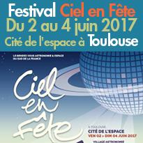 Du 2 au 4 juin<br>Cité de l'espace <br>Le rendez-vous<br>Astronomie et Espace<br>à Toulouse (31)