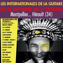 Le 21eme Edition<br>des Internationales<br>de la guitare<br>Montpellier (34)
