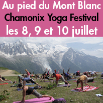 Les 8, 9 et 10 juillet<br>Chamonix<br>Yoga Festival