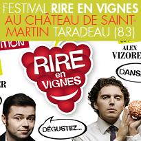 Festival<br>Rire en Vignes<br>Château de St-Martin<br>à Taradeau (83)<br>le 26 et 27 juillet 2017