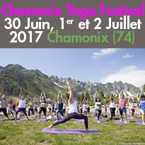 Chamonix Yoga Festival<br>30 Juin, 1er<br>et 2 Juillet 2017