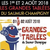 1er et 2 août<br>Grandes Tablées<br>Saumur-Champigny