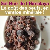 Nouvelle saveur<br>Sel Noir<br>de l'Himalaya<br>Kala Namak