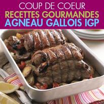 l'agneau gallois IGP<br>recettes gourmandes<br> un goût inimitable