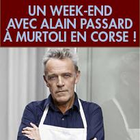 Du 25 au 27 novembre 2016<br>en Corse<br>avec le chef<br>Alain Passard