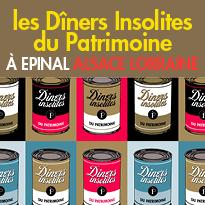 Les dîners insolites<br>du patrimoine<br>à Epinal<br>en Alsace Lorraine