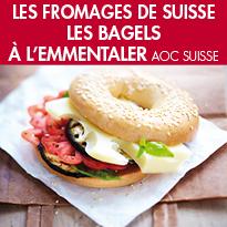 Recette<br>le Bagel <br>à l'Emmentaler AOC suisse.