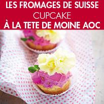 recette de Cupcake<br>à la Tête de Moine AOP