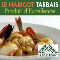 Recettes<br>Haricots Tarbais<br>Produit d'Excellence