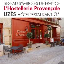 L'Hostellerie Provençale<br> hôtel-restaurant 3*<br>de charme en plein<br> cœur d'Uzès