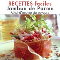 Jambon de Parme<br>un moment de convivialité<br>de détente, de plaisir.