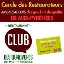 Le Cercle des Restaurateurs Ambassadeurs<br>des produits de qualité<br>de Midi-Pyrénées