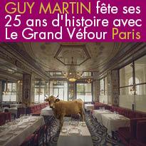 Guy Martin<br>fête ses 25 ans d'histoire<br>avec Le Grand Véfour<br>Paris 75001