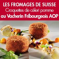 Croquettes de céleri pomme<br>au Vacherin Fribourgeois AOP