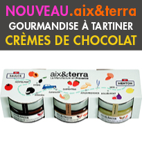 le « Set N7 »chocolat <br>un coffret<br>crèmes à tartiner<br>d'Aix&terra